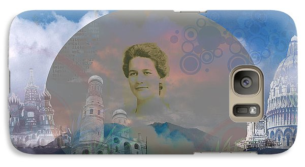 Galaxy Case featuring the digital art In The Air by Cathy Anderson