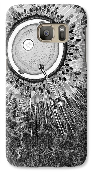 Galaxy Case featuring the digital art In The Beginning by Carol Jacobs