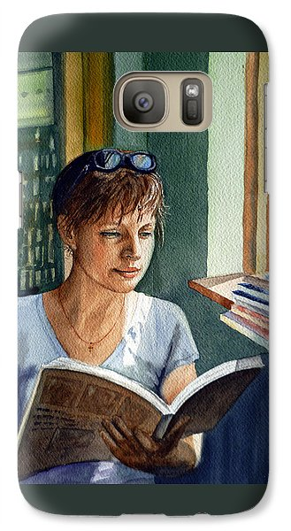 Galaxy Case featuring the painting In The Book Store by Irina Sztukowski