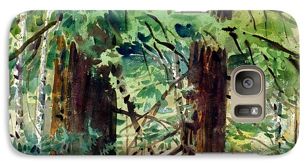 Galaxy Case featuring the painting In The Canopy by Donald Maier