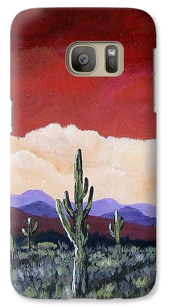 Galaxy Case featuring the painting In The Distance by Suzanne Theis