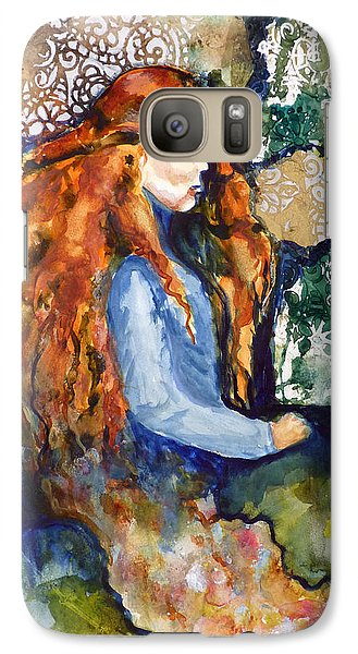 Galaxy Case featuring the mixed media In The Dream by P Maure Bausch