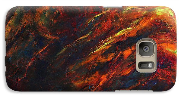 Galaxy Case featuring the painting In The Fire by Jennifer Godshalk