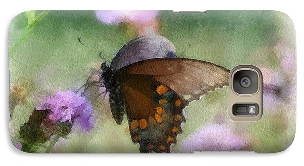 Galaxy Case featuring the photograph In The Flowers by Kerri Farley
