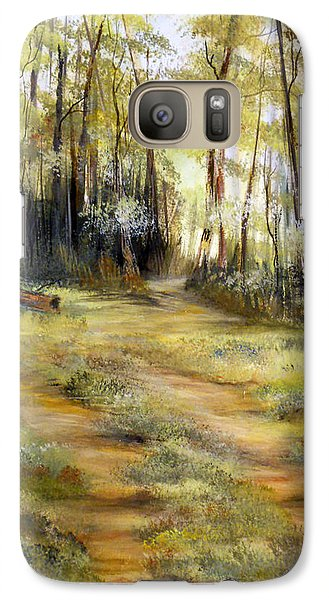 Galaxy Case featuring the painting In The Forest by Dorothy Maier
