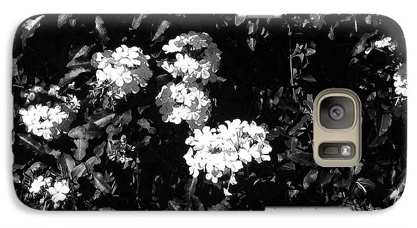 Galaxy Case featuring the photograph In The Garden- Black And White by Alohi Fujimoto