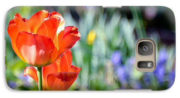 Galaxy Case featuring the photograph In The Garden by Kerri Farley