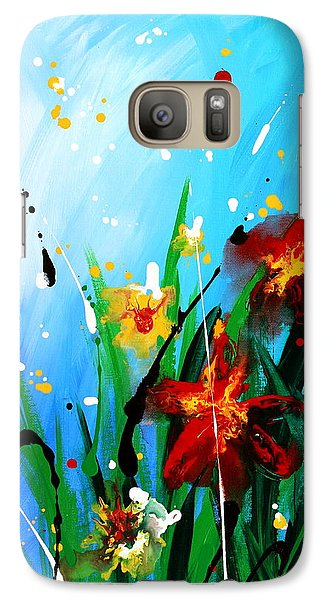 Galaxy Case featuring the painting In The Garden by Kume Bryant