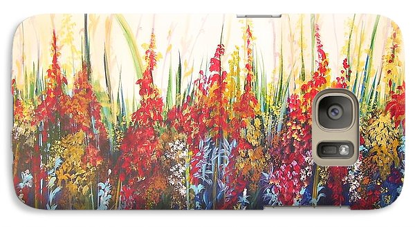 Galaxy Case featuring the painting In The Garden by Nereida Rodriguez