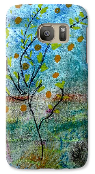 Galaxy Case featuring the pastel In The Garden by Patricia Januszkiewicz