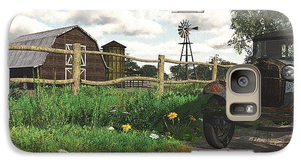 Galaxy Case featuring the digital art In The Heartland by Jayne Wilson