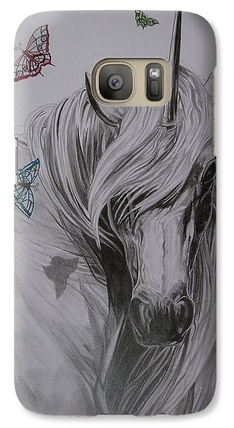 Galaxy Case featuring the drawing In The Heaven by Melita Safran
