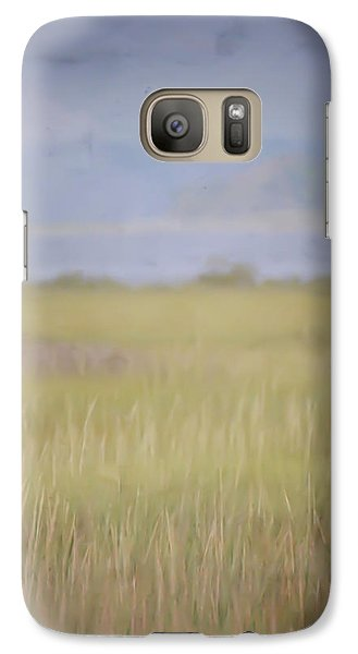 Galaxy Case featuring the photograph In The Marsh  by Kerri Farley