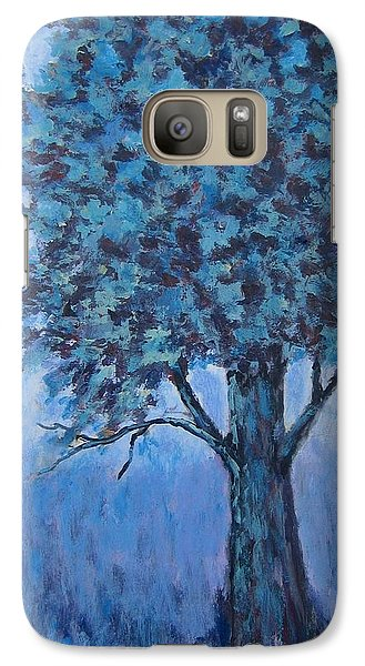 Galaxy Case featuring the painting In The Mist by Suzanne Theis
