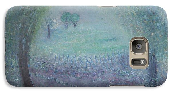 Galaxy Case featuring the painting In The Morning Mist by Tone Aanderaa