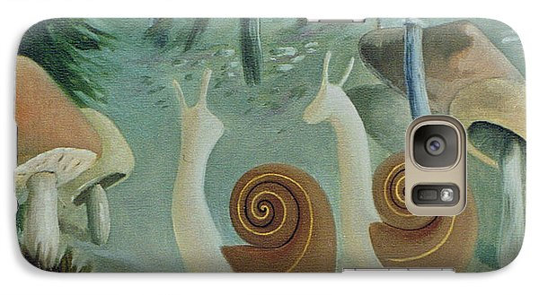 Galaxy Case featuring the painting In The Mushroom Forest by Tone Aanderaa