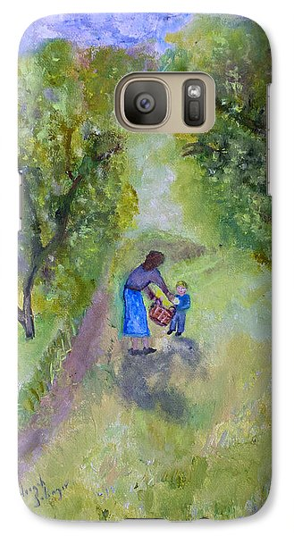 Galaxy Case featuring the painting In The Pear Orchard by Aleezah Selinger