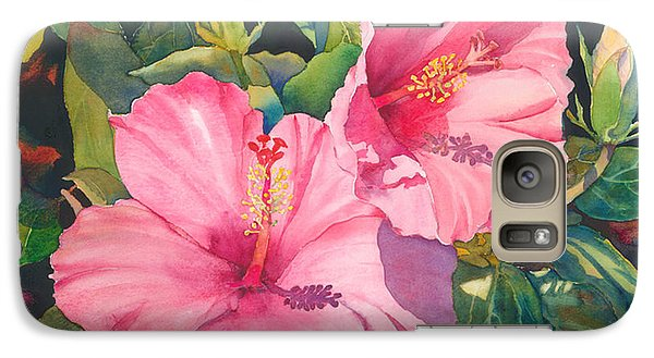 Galaxy Case featuring the painting In The Pink by Judy Mercer