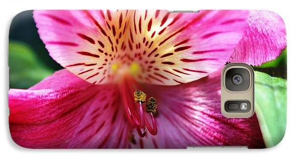 Galaxy Case featuring the photograph In The Pink by Judy Palkimas