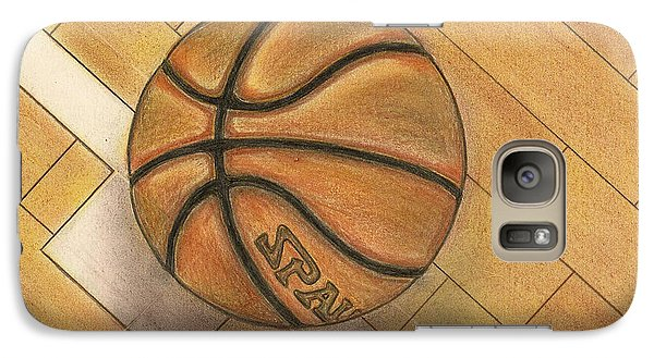 Galaxy Case featuring the drawing In The Post by Troy Levesque
