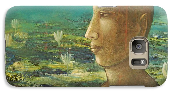 Galaxy Case featuring the painting In The Realm Of Buddha by Mini Arora