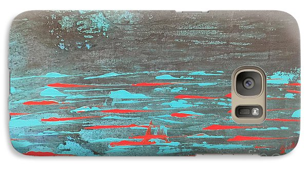 Galaxy Case featuring the painting In The River by Theresa Kennedy DuPay