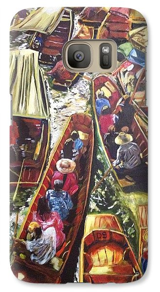 Galaxy Case featuring the painting In The Same Boat by Belinda Low