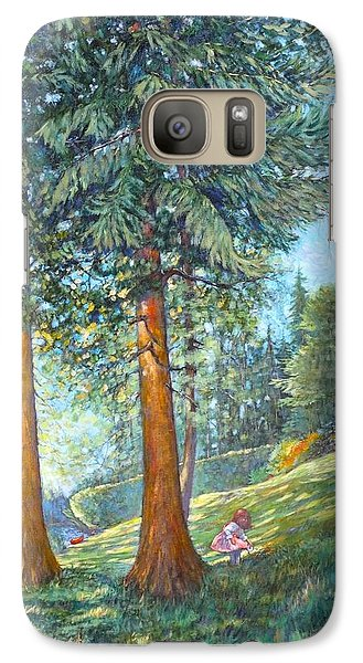 Galaxy Case featuring the painting In The Shade by Charles Munn