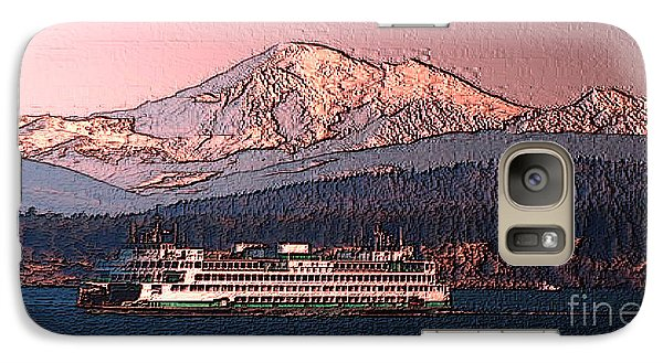 Galaxy Case featuring the digital art In The Shadow Of A  Mountain by Elaine Ossipov