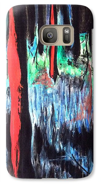 Galaxy Case featuring the painting In The Woods by Daniel Janda