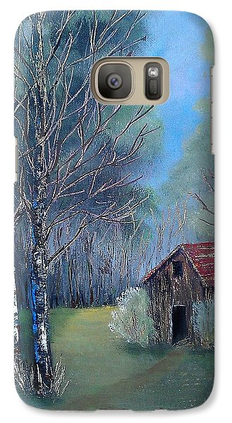 Galaxy Case featuring the painting In The Woods by Suzanne Theis