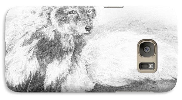 Galaxy Case featuring the drawing In Transition by Meagan  Visser