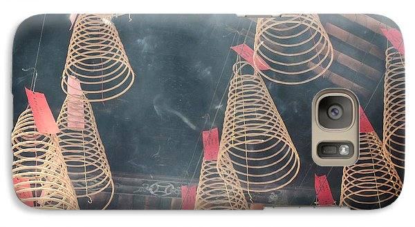 Galaxy Case featuring the photograph Incense Coils by Lucinda Walter