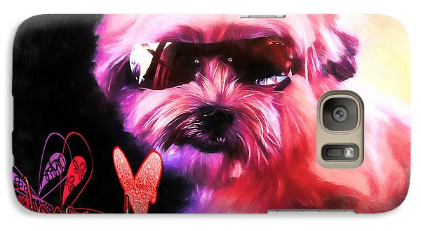 Galaxy Case featuring the digital art Incognito Innocence by Kathy Tarochione