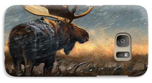 Galaxy Case featuring the digital art Incoming Storm by Aaron Blaise