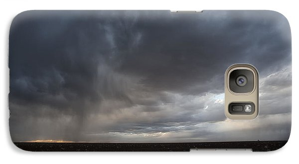 Incoming Storm Over A Cotton Field Galaxy S7 Case by Melany Sarafis