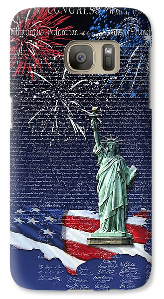 Galaxy Case featuring the digital art Independence Day by Kathleen Holley