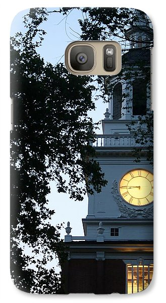 Galaxy Case featuring the photograph Independence Hall At Dusk by Christopher Woods