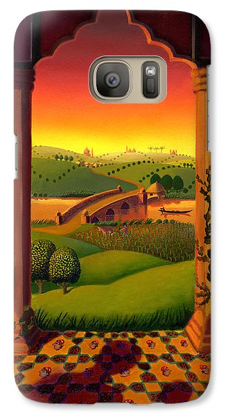 Galaxy Case featuring the painting India Landscape by Robin Moline