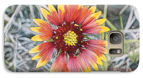 Galaxy Case featuring the painting Indian Blanket by Joshua Martin