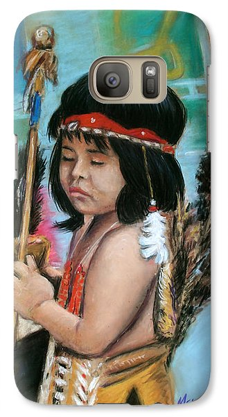Galaxy Case featuring the painting Indian Boy by Melinda Saminski