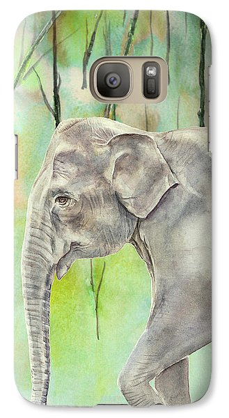 Galaxy Case featuring the painting Indian Elephant by Elizabeth Lock