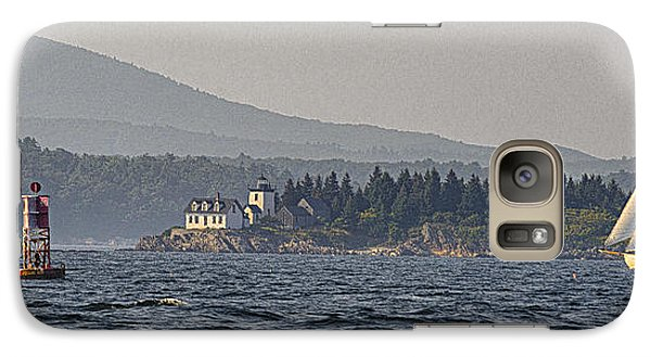Galaxy Case featuring the photograph Indian Island Lighthouse - Rockport - Maine by Marty Saccone
