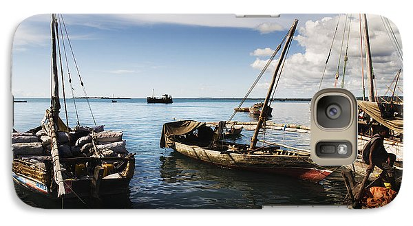 Galaxy Case featuring the photograph Indian Ocean Dhow At Stone Town Port by Amyn Nasser