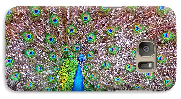 Galaxy Case featuring the photograph Indian Peacock by Deena Stoddard