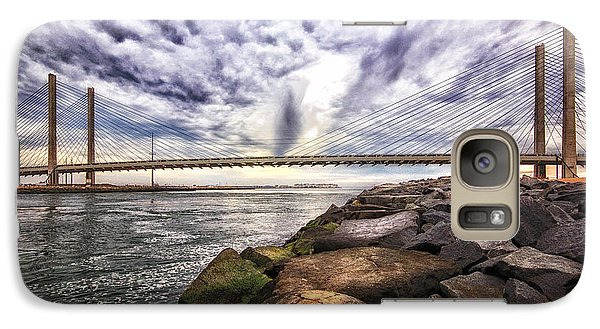 Indian River Bridge Clouds Galaxy S7 Case