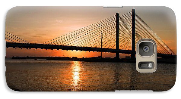 Indian River Bridge Sunset Reflections Galaxy S7 Case