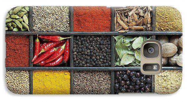 Indian Spice Grid Galaxy Case by Tim Gainey