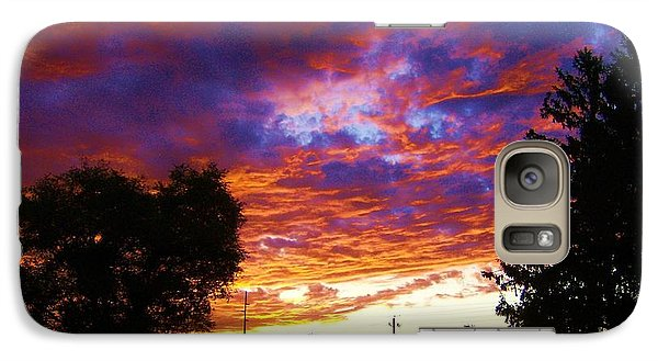 Galaxy Case featuring the digital art Indiana Sunset by P Dwain Morris