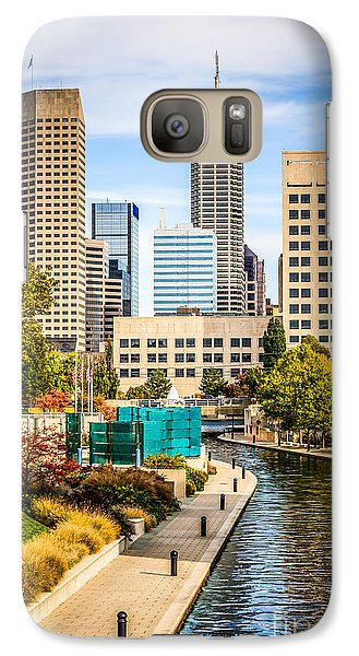 Indianapolis Skyline Picture Of Canal Walk In Autumn Galaxy S7 Case